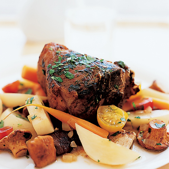 Lamb Chops with Vegetable Ragout