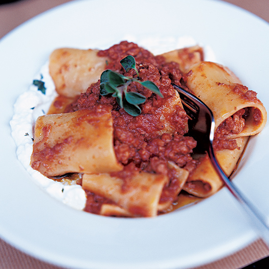 Rigatoni with Pork Ragù and Fresh Ricotta