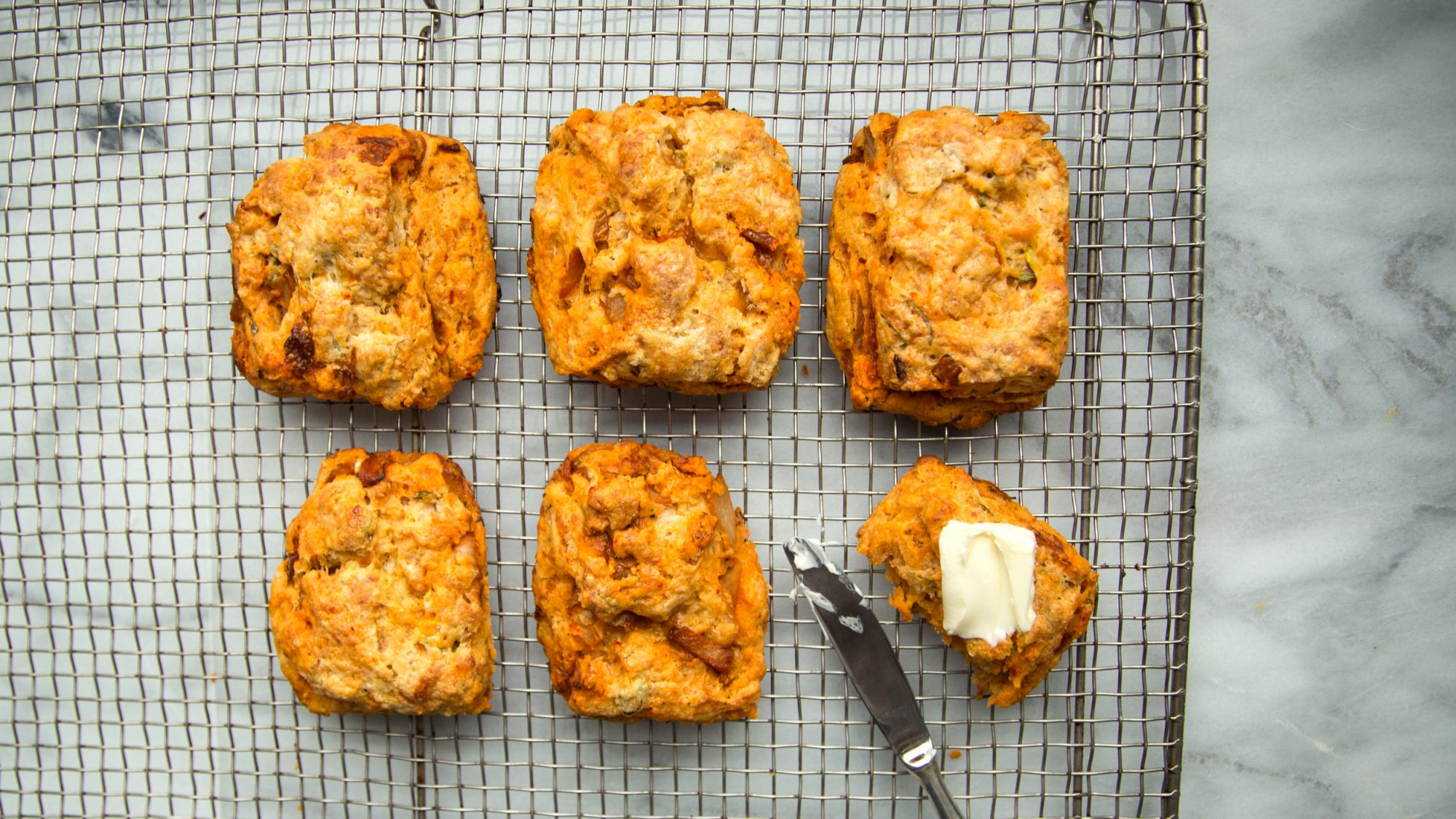 How to Make Kimchi-Cheddar Biscuits
