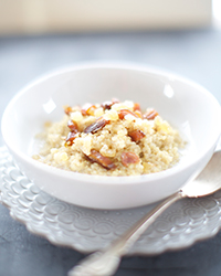Coconut Quinoa Porridge with Ginger and Dates