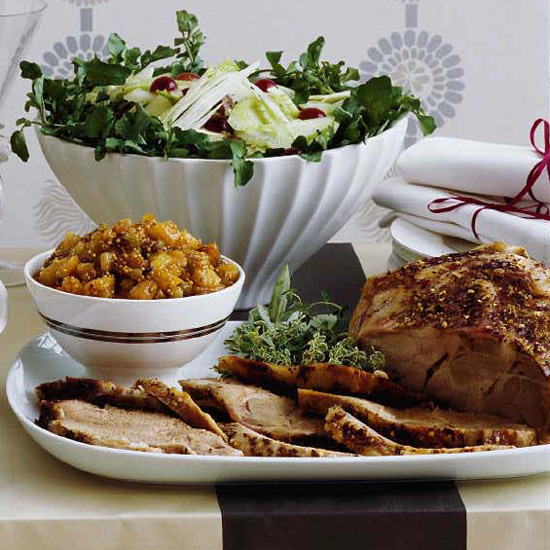 Crispy Slow-Roasted Pork Shoulder with Apricot Chutney