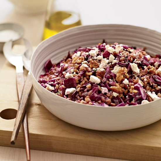 Warm Spelt with Red Cabbage and Ricotta Salata