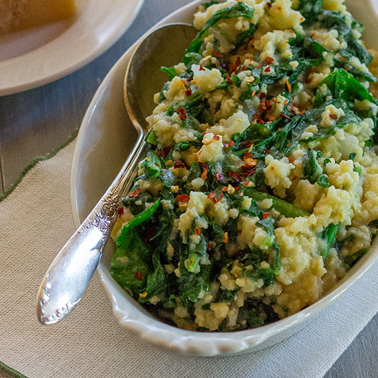 Millet with Broccoli Rabe and Parmigiano