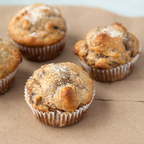 Spelt Muffins with a Marsala-Fig Swirl