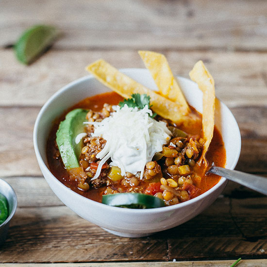 Tortilla Soup with Lentils