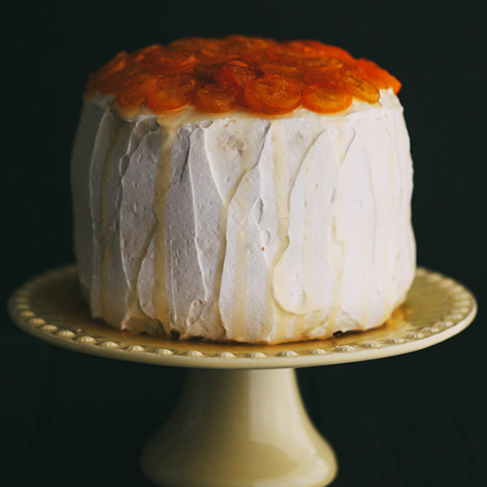 Layered Parsnip Cake with Candied Kumquats