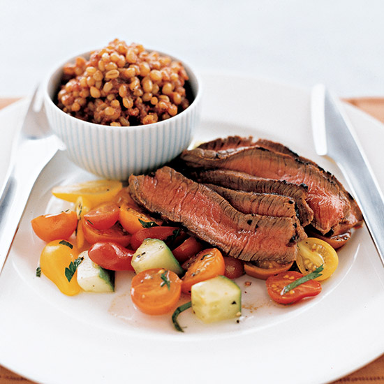 Chipotle Steak with Turkish Wheat Berries