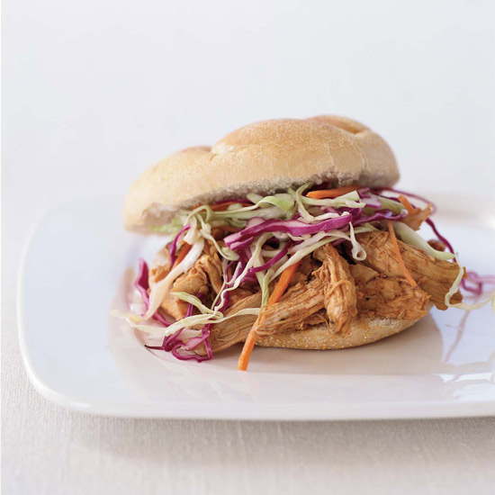 Pulled-Chicken Sandwiches
