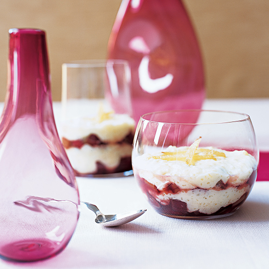 Tapioca and Rhubarb Parfait
