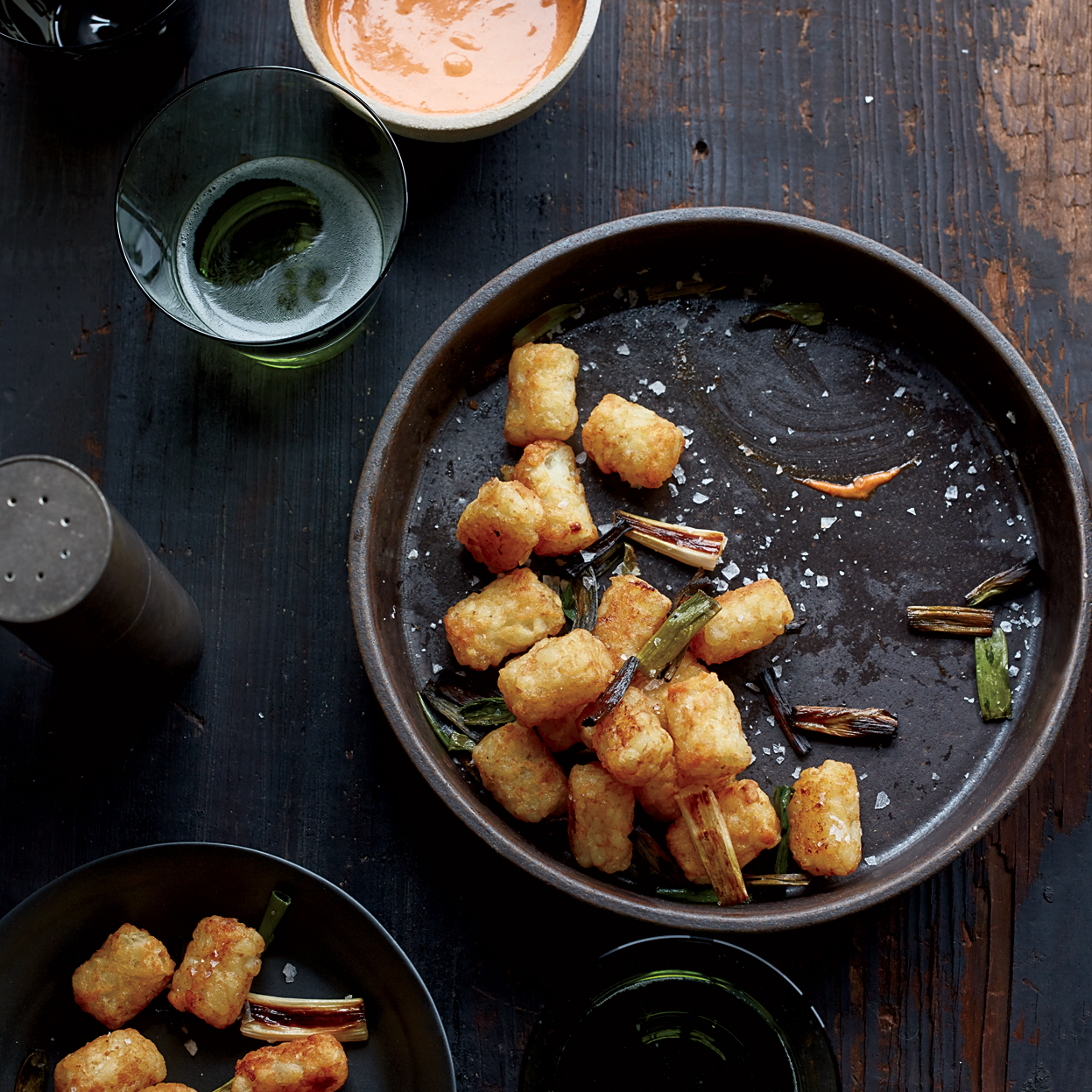Tater Tots with Spicy Aiolil