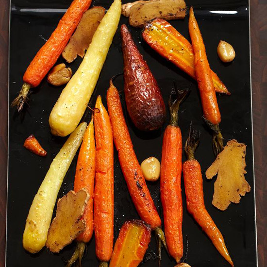 Healthy Thanksgiving Carrot Recipes like Whole Roasted Carrots with Fresh Ginger