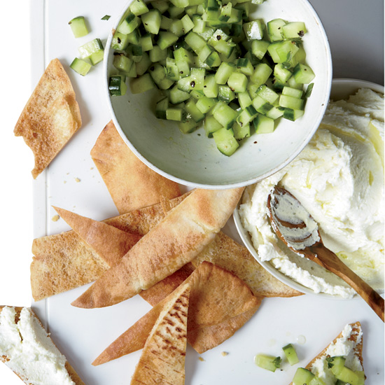 Whipped Feta with Cucumbers