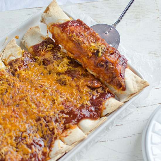 Easy BBQ Chicken Enchiladas