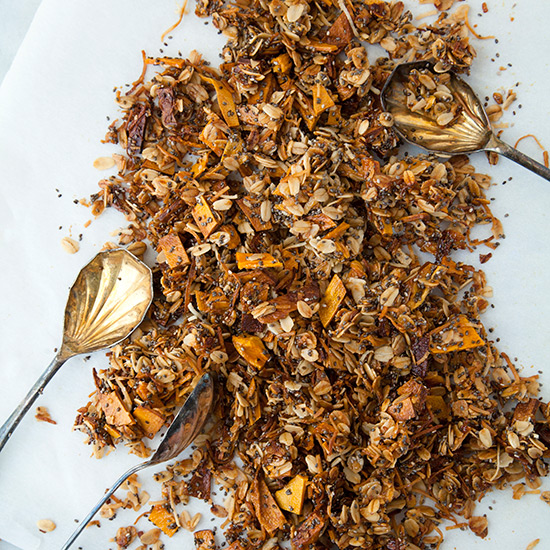 Tropical Chia Coconut-Mango Granola