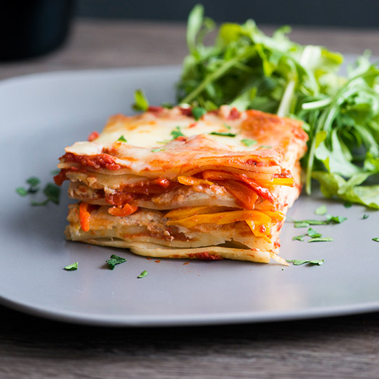 Easy Sweet Pepper Lasagna