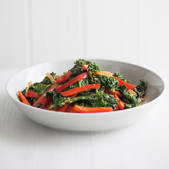 Red Bell Pepper and Kale Stir-Fry