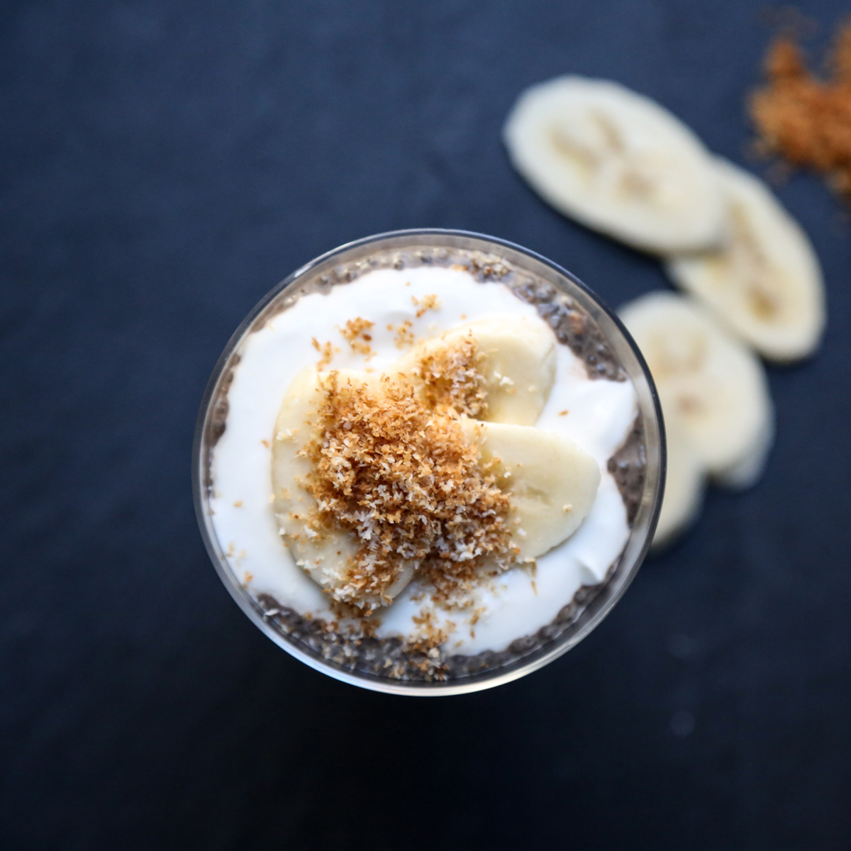 Brazilian Chia Pudding Cups with Acai and Coconut Yogurt