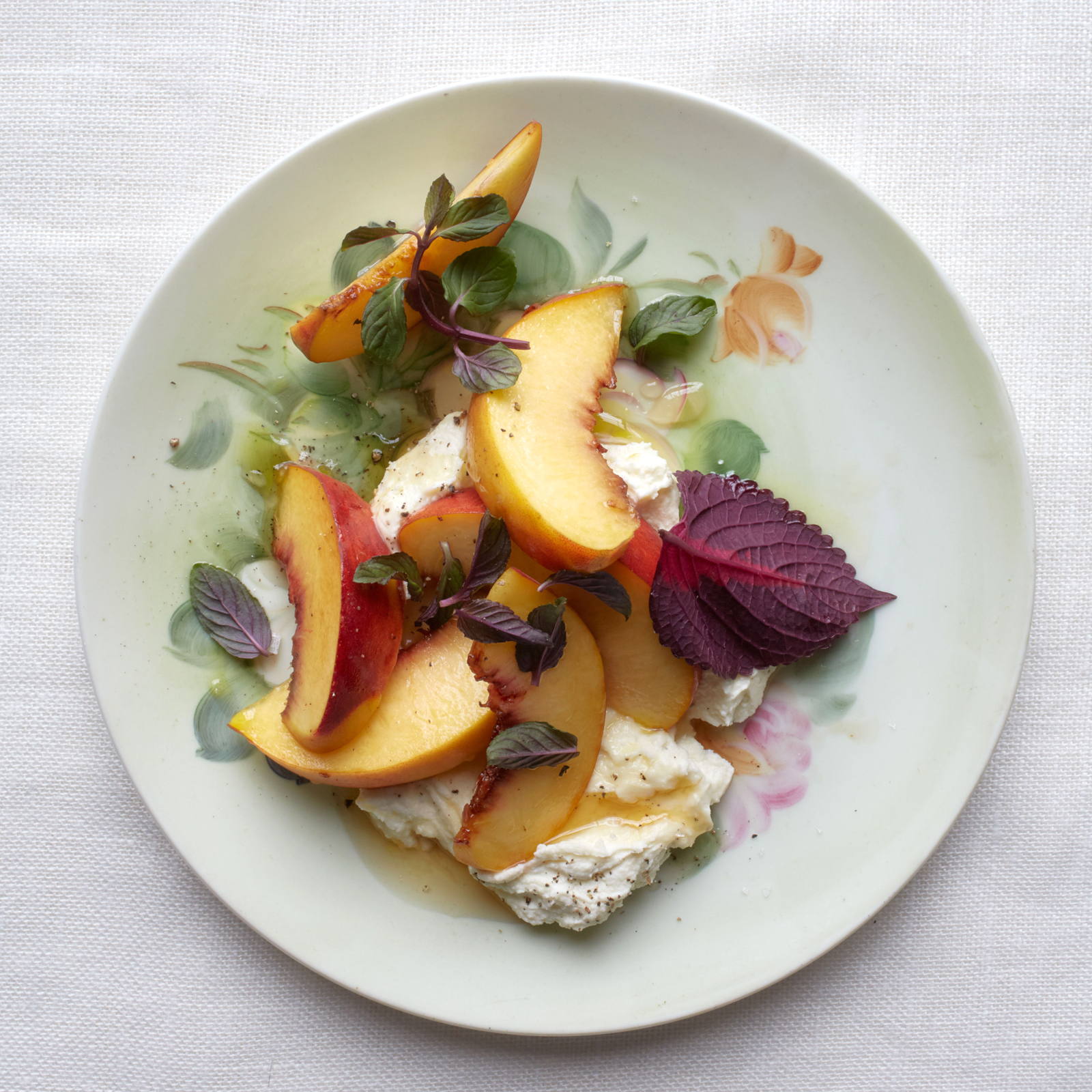 Goat Ricotta with Peaches