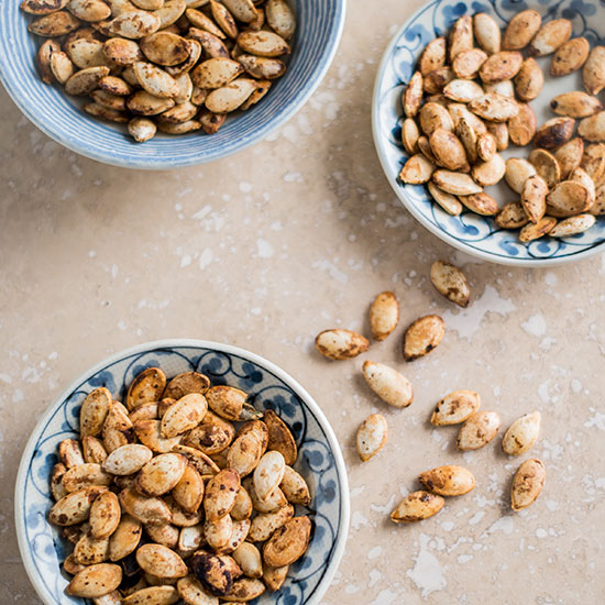 Sesame-Soy Roasted Pumpkin Seeds