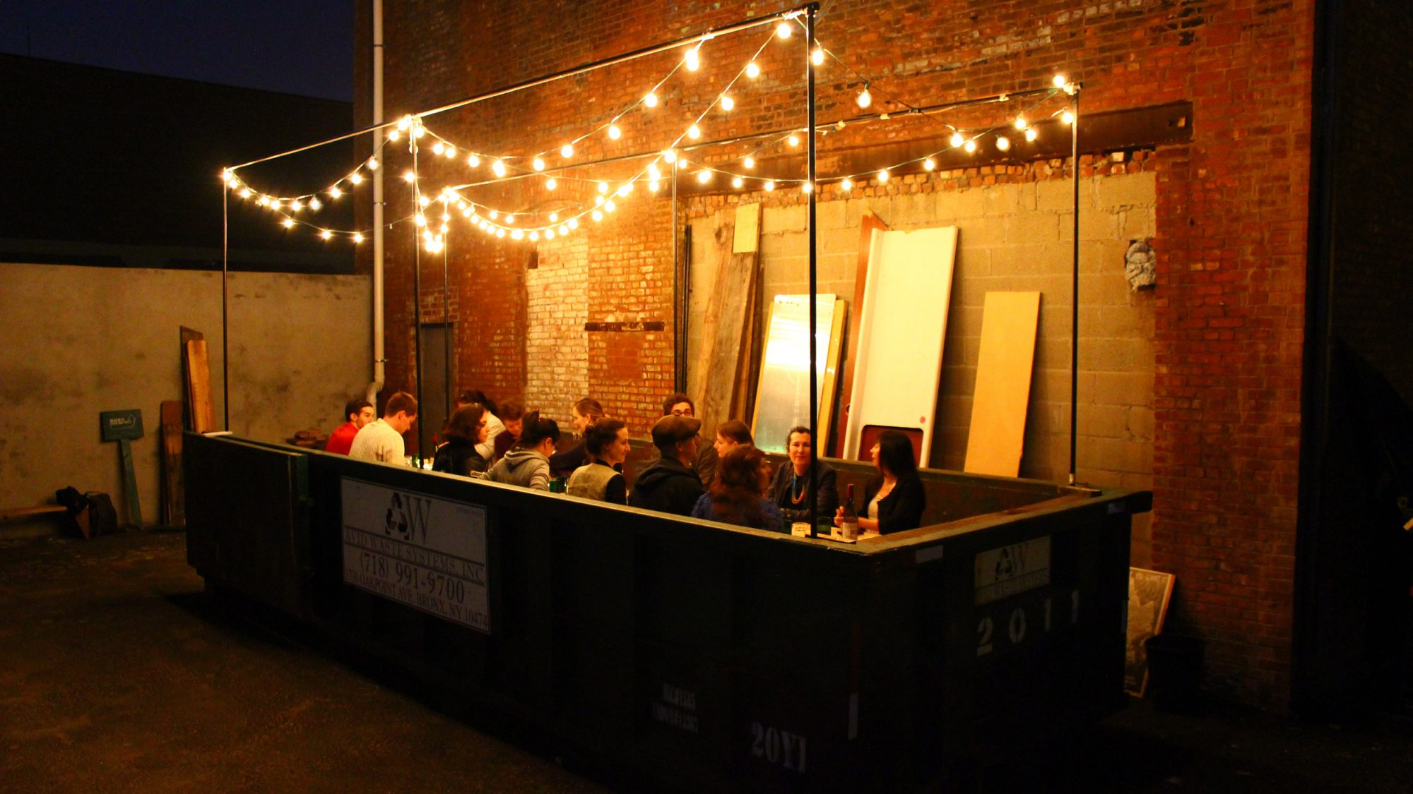 This Supper Club Meets In a Dumpster