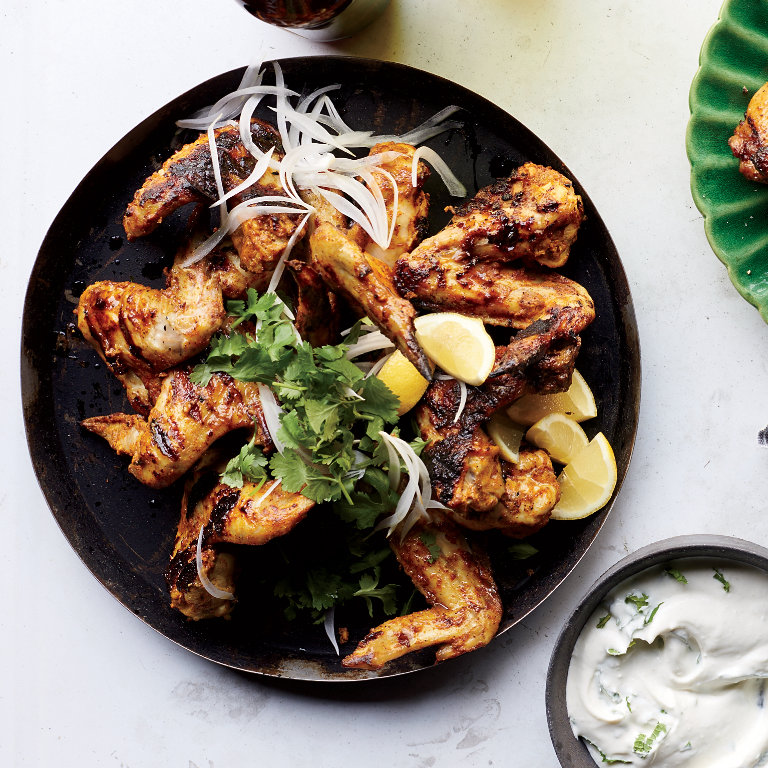 Tandoori Chicken Wings with Yogurt Sauce