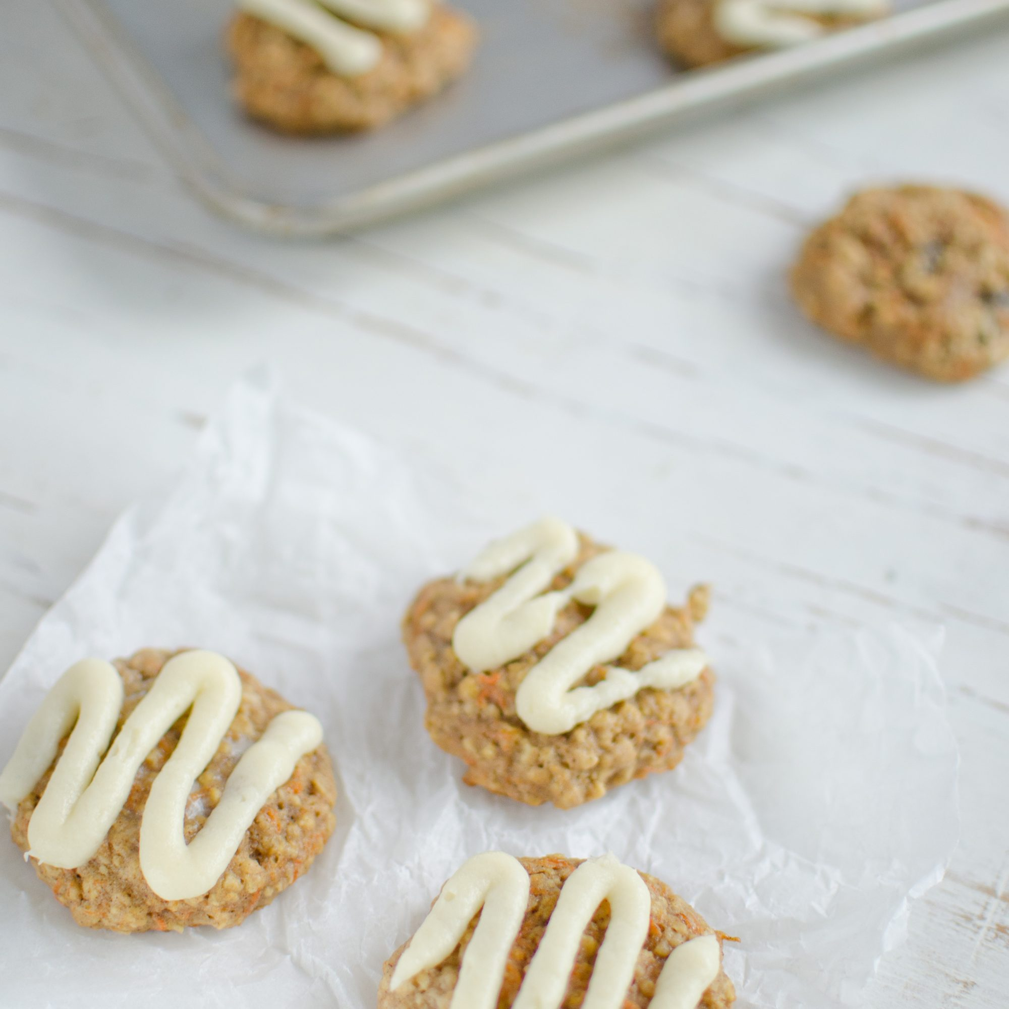 Oatmeal-Carrot Cookies with Cream Cheese Frosting