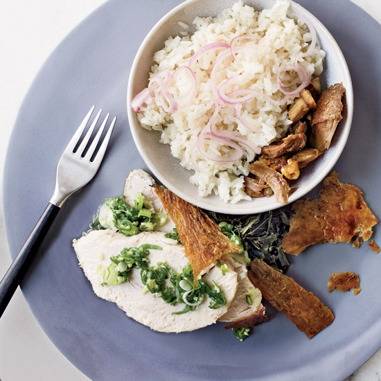 Soy-Braised Turkey with Turkey Rice