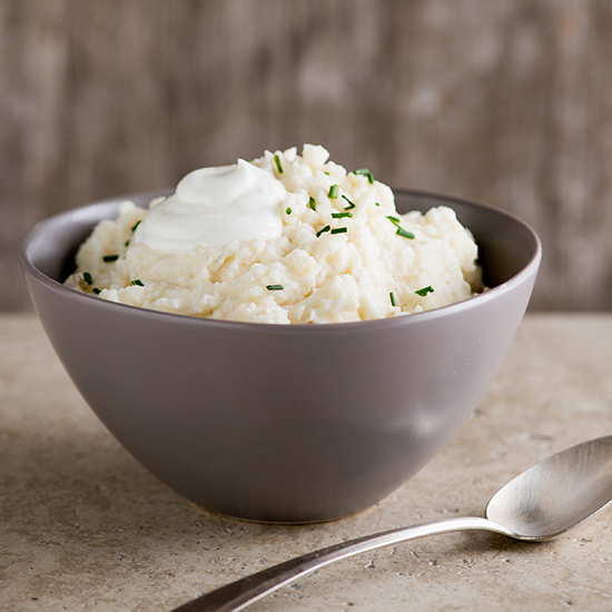 Garlic Mashed Potatoes with Chives and Greek Yogurt