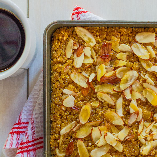 Maple-Almond Baked Quinoa