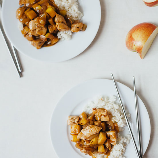 Chicken Apple Stir-Fry