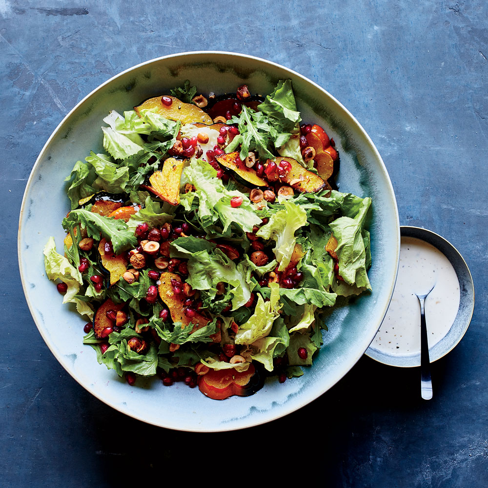 Acorn Squash and Escarole Salad