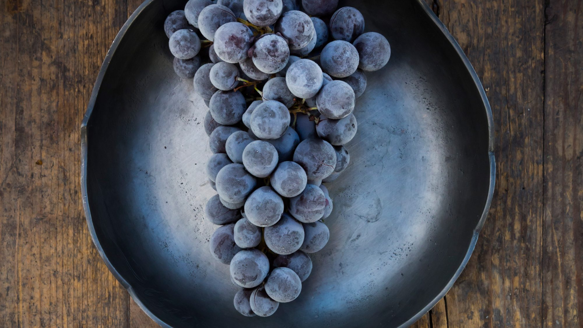 Warm Wine Frozen Grapes