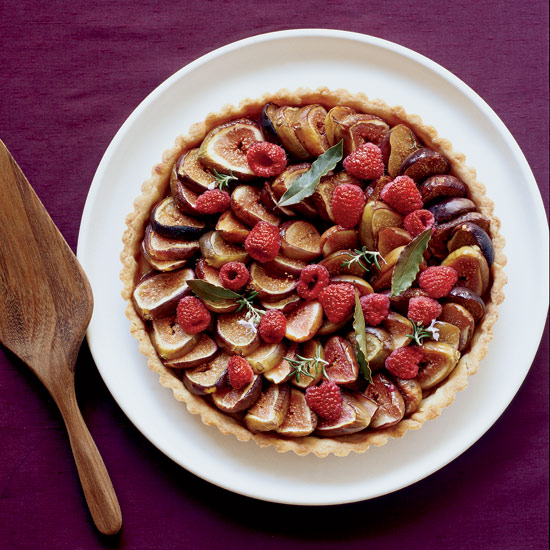 Fig-and-Raspberry Tart with Chestnut Honey