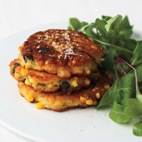 Corn and Shiitake Fritters