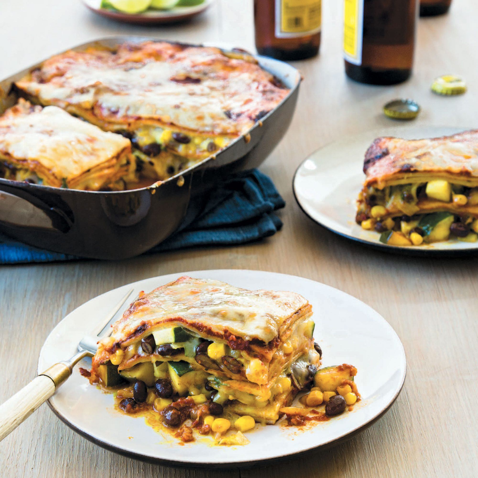 Late Summer Vegetable Enchilada