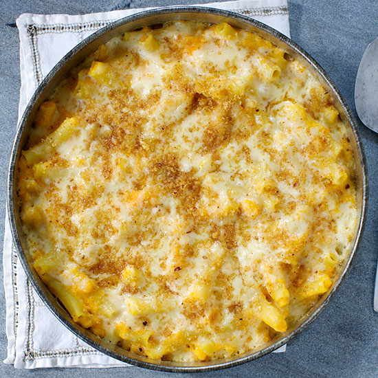 Golden Macaroni and Cheese with Butternut Squash Puree