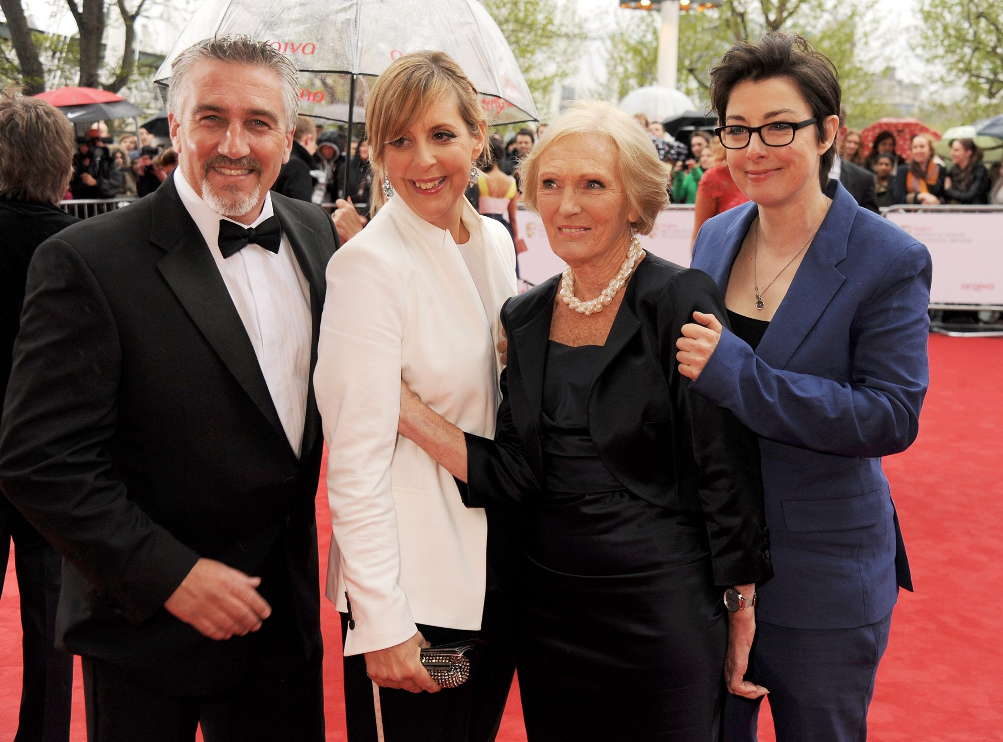GBBO judges Paul Hollywood, Mel Giedroyc, Mary Berry and Sue Perkins attend the Arqiva British Academy Television Awards 2013