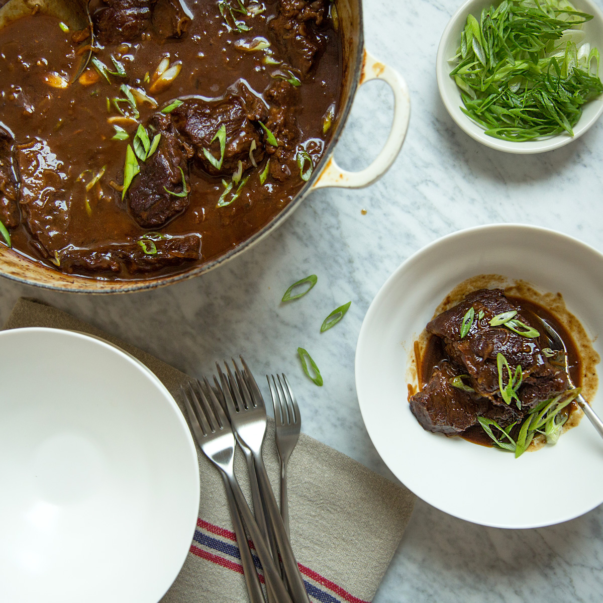 Dried Cherry and Miso Braised Short Ribs