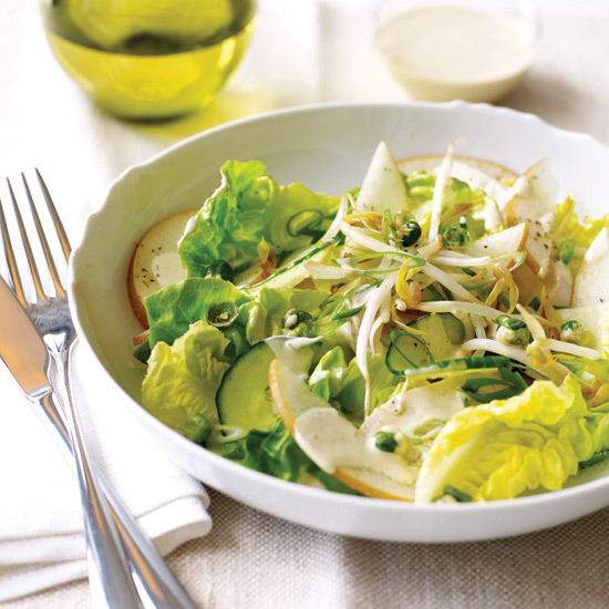 Asian Chicken Salad with Wasabi Dressing + Riesling