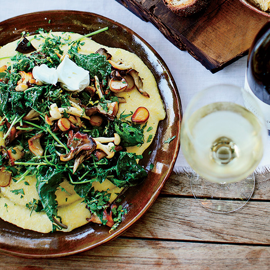 Soft Polenta with Mixed Mushrooms and Gremolata