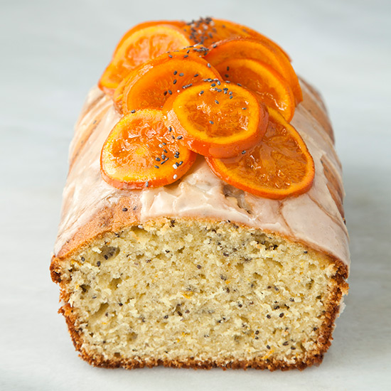 Clementine and Chia Seed Yogurt Pound Cake