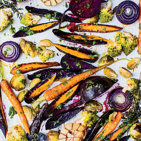 Chicken-Fat-Roasted Vegetables with Gremolata