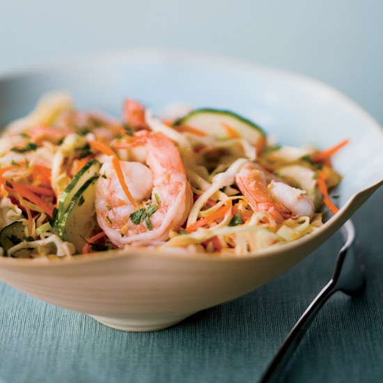 Asian Shrimp and Cabbage Salad