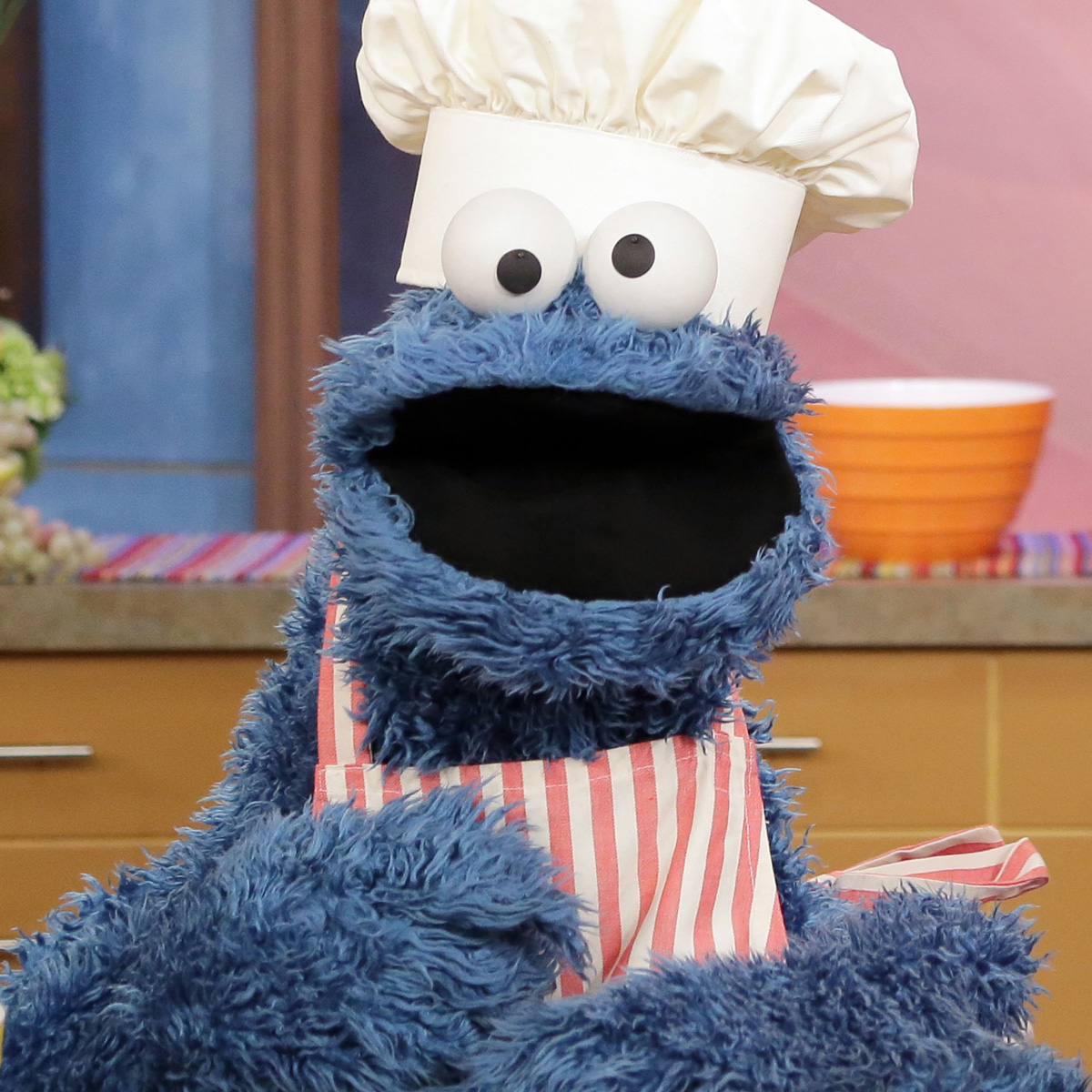 Cookie Monster Bakes Cookies