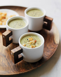 Thanksgiving Recipes for Kids Like Creamy Roasted Broccoli Soup