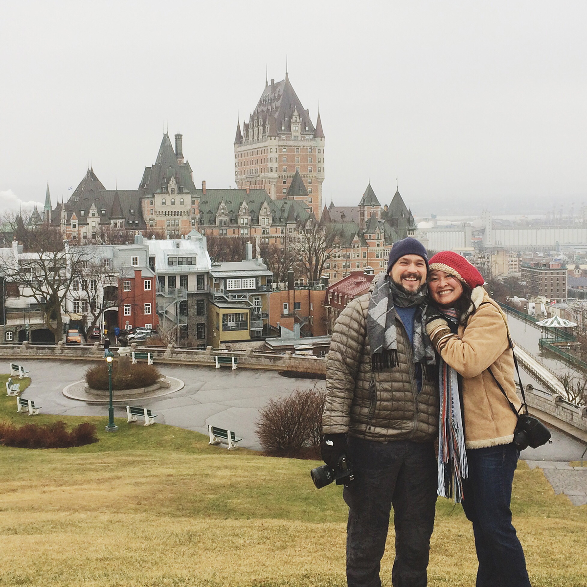White on Rice Couple in Quebec City