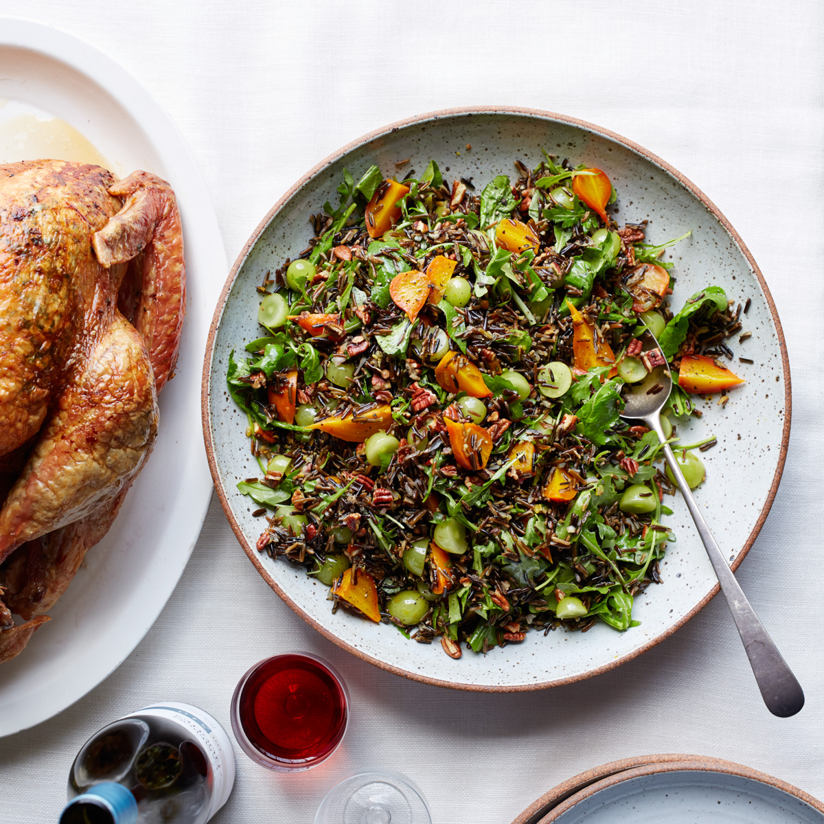 Wild Rice Salad with Beets, Grapes and Pecans