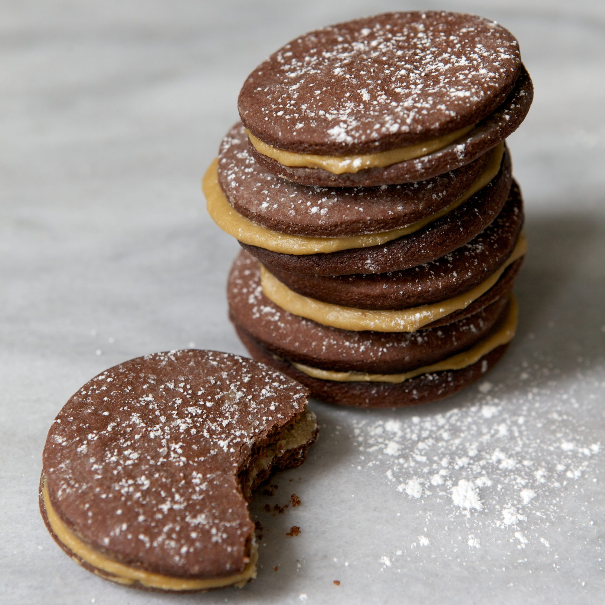 Butterscotch Chocolate Sandwich Cookies