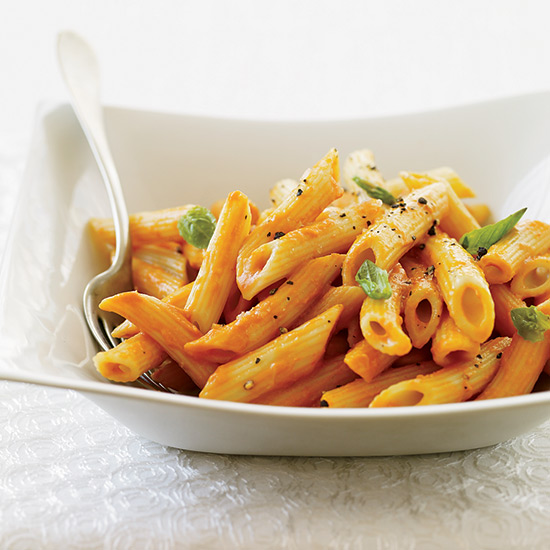 Penne with Triple Tomato Sauce