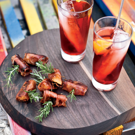 Fast, Make-Ahead Cocktail Party Recipes like Prosciutto-Wrapped Persimmons